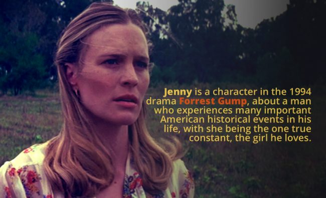psychological analysis of jenny curran gump Forrest gump is a 1994 american drama film based on the 1986 novel of the same name by winston groom robin wright as jenny curran.